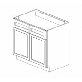 SB36B Ice White Shaker Sink Base Cabinet