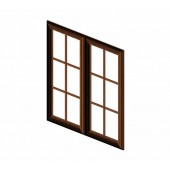 W3036BGD Cinnamon Glaze Glass Door for W3036B (2pcs/set) #