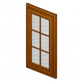 W1236GDTMG Maple Glaze Glass Door