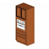 OC3384B Cinnamon Glaze Single Oven Cabinet  #