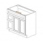 """S3621BDL-34-1/2"""" Gramercy White Vanity Sink Base #"""