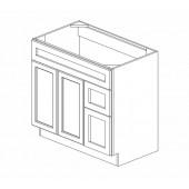 """S3621BDR-34-1/2"""" Gramercy White Vanity Sink Base #"""