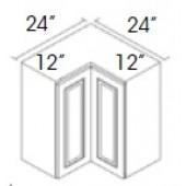WSQ2442 Signature Pearl Wall Corner Cabinet #