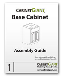 Base Cabinet Assembly Instructions