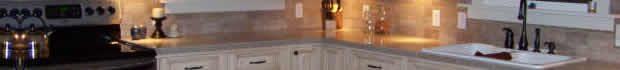 Crystal loves her maple glaze kitchen cabinets