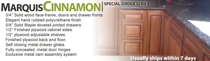 Marquis Cinnamon RTA Kitchen Cabinets