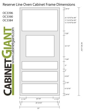 Reserve Line Oven Cabinet Frame Schematic